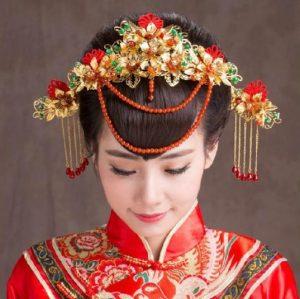 Hermoso Arreglo en el cabello de una Geisha