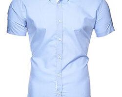 Camiseta manga corta azul claro